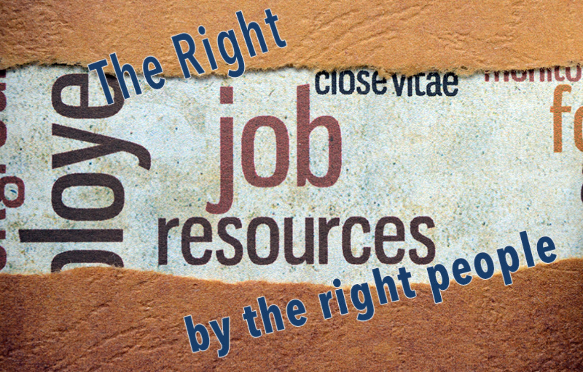 Right job for the right person